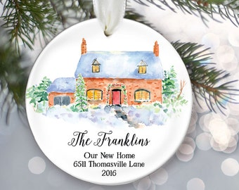 Our First Home Ornament Personalized New Home Christmas Ornament Housewarming Gift New House Our First House 1st Home Couples name OR012