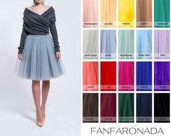 Adult grey tutu skirt, wedding tulle skirt, gray petticoat