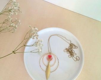 Necklace ıCanopéeı geometrique, poetic, boheme, colorfull, girly, birthday gift, woman jewel, woman necklace