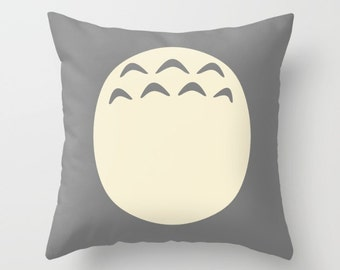 Totoro Pillow Cover, Studio Ghibli Pillow Cover, Totoro Cushion Cover, Miyazaki Cushion Cover, Totoro Decorative Pillow, Totoro Nursery