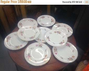 9 Royal Crown Derby dinner plates