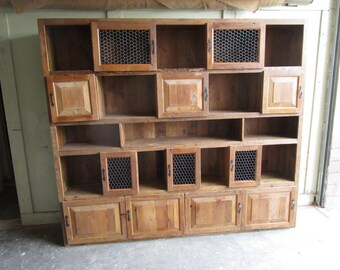 Large Bookcase custom made from reclaimed wood in the USA