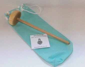 Drop Spindle Starter Kit - Blue Clouds