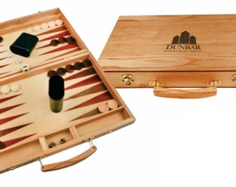 LASER ENGRAVED Travel Backgammon Set - Custom Personalized Backgammon Set