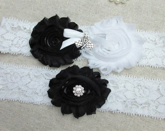 Checkered Flag Racing Wedding Garter Set, Nascar Racing Keepsake & Toss Garter Set, Wedding Accessories