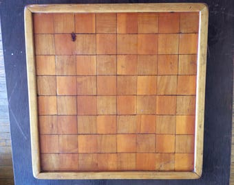 Chess Board OOAK Handmade Wooden Checker Board Chess Board Handcrafted Solid Wooden Chess Game Board Wooden Checker Board