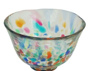 From Japan Guinomi Glass Sake Cup Nebuta Tsugaru F-79469