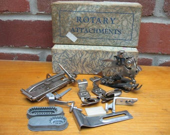 greist rotary attachments vintage sewing machine parts ruffler tucker
