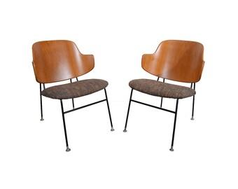 Kofod Larsen Penguin Chairs Danish Modern Lounge Chairs