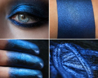 Eyeshadow: Grow Wings - Undead. Deep, velvety, blue-black eyeshadow by SIGIL inspired.