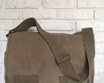 Canvas Messenger Bag, Travel briefcase bag