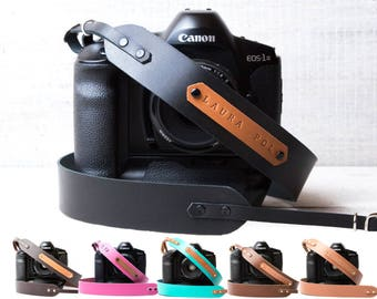 Personalized Camera strap leather Camera strap monogram Camera strap DSLR camera strap