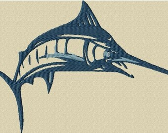 Marlin Fish Embroidery Design File for Embroidery Machine Monogram Nautical Cute Boy