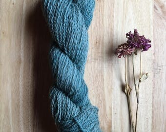 Yarn- Hand dyed -Wool Mohair Alpaca Blend- Teal Blue- Worsted