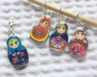 Russian doll stitch markers