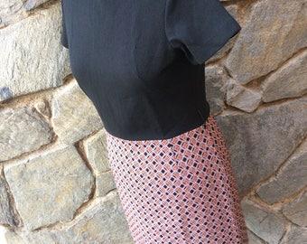1970's Groovy Baby Black and Sienna Plaid A Line dress // Mini dress //Large