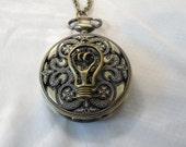 Steampunk Pocket  Pendant Watch Necklace