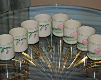 8 Pfaltzgraff Cups - Cherry Tulip Design