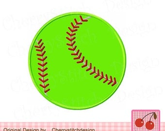 Softball Sports Machine Embroidery Applique DesignSPORT013-4x4 5x5 6X6 inch