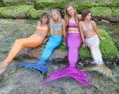 2 Custom Mermaid Tails with Foam Fluke Inserts