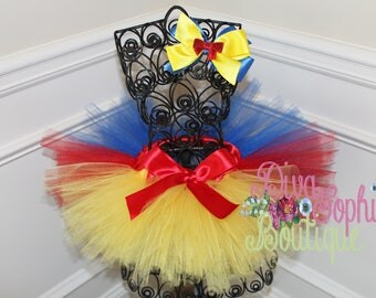 Snow White Inspired Tutu and Bow -Princess Tutu and Bow