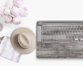 Gray Wood - KeyCal Skin Decal & Ultra Thin Keyboard Protector for Macbook for MacBook Pro Retina and Macbook Air , New Macbook Pro 2016