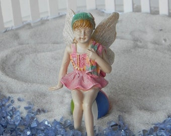 Fairy Garden Fairy Figurine Swim Suit, miniature beach garden supply, mini beach scene supplies, miniature beach ball, fairy garden minis