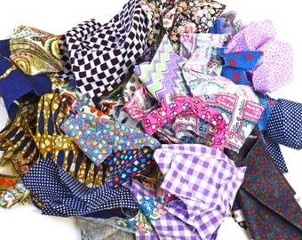 Fabric Scrap Bag · Fabric Scraps · Vintage Fabric · Fabric Pieces · Purple Fabric Scraps · Bag 4