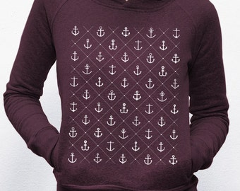 Hoodie · Anchor/love · Red Heather grape
