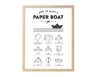 Fine art print · Paper boat · DIN A4
