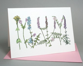 Mum - Floral Card