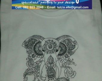 DIY Paint yourself an Elephant T-shirt
