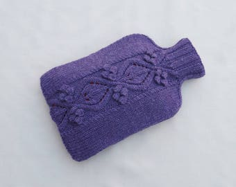 Hot Water Bottle Cosy Cover Purple - FOXCOTE