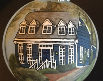 Custom hand painted house ornaments