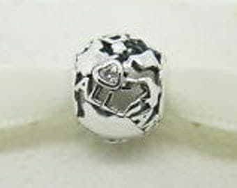 Pandora Sterling Silver Around The World Charm