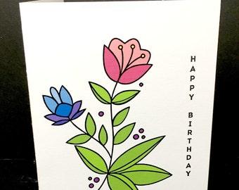 Birthday Card - Bright & Cheery Floral