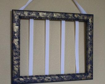 navy blue frame hair clip holder