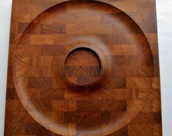 Kalmar Designs Danish Modern Teak Serving Tray Made in Denmark