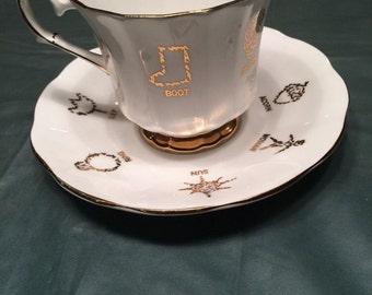 Antique Psychic SEER's Mystic Tea Cup Of Fortune with saucer Taylor and Kent