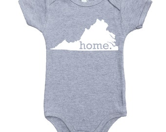 Homeland Tees Virginia Home Unisex Baby Bodysuit