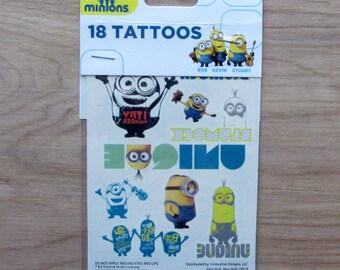 Minions Tattoos~Set of 18 Tattoos~Minions Bob, Kevin, Stuart