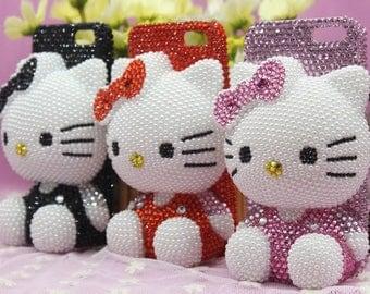Cute Kitty Bling Crystal 3d Phone Case