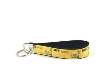 Harry Potter key fob,  Hufflepuff key chain, Hufflepuff wristlet keychain, Fabric Wristlet, Fabric Key Ring, Harry Potter Key Chain
