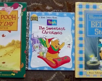 3 Winnie the Pooh books Winnie the Pooh's Bedtime Stories, The Sweetest Christmas, and the Blustery Day