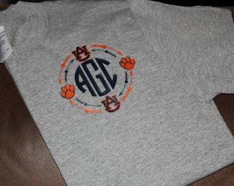 Auburn Monogrammed t'shirt