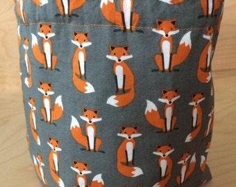 Fox Sock Knitting Project Bag