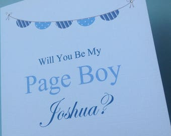 Personalised Will You Be My Best Man Usher Groomsman Page Boy etc Wedding Card