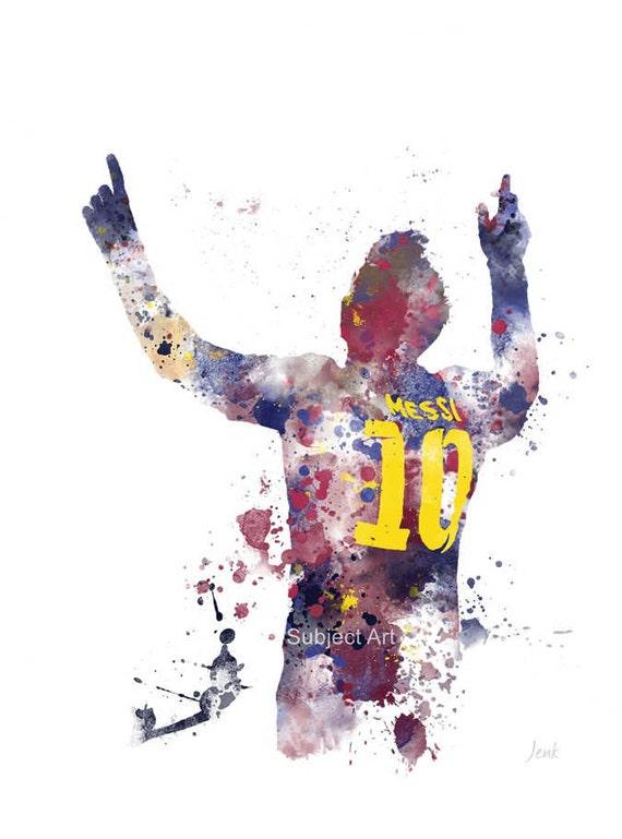 Lionel Messi Art Print Illustration Barcelona Football