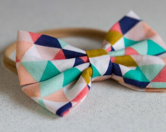 Teal & Blue Spring Bow and Bow tie