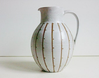 Studio Ceramic jug / vase designed by Ulli Wittich - Grosskurth, Jena East Germany